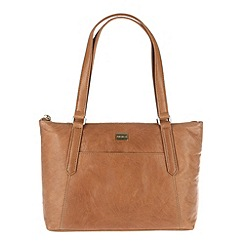 Portobello W11 - Dark tan 'Amie' soft leather handbag