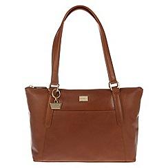 Portobello W11 - Nutmeg 'Amie' leather handbag