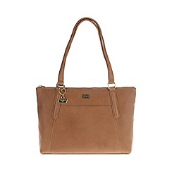 Portobello W11 - Tan 'Amie' leather hand bag