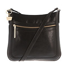 Portobello W11 - Black 'Andrea' soft leather cross-body bag