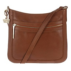 Portobello W11 - Nutmeg 'Andrea' leather cross-body bag