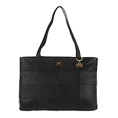 Portobello W11 - Black 'Izzy' leather hand bag
