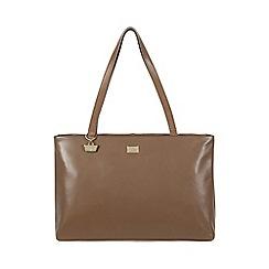 Portobello W11 - Mushroom 'Izzy' leather hand bag