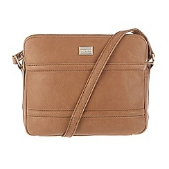 Portobello W11 - Tan 'Rosie' leather small across-body bag
