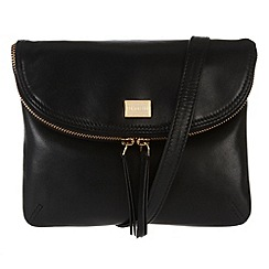 Portobello W11 - Black 'Daisy' cross-body envelope bag
