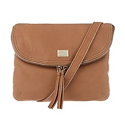 Portobello W11 - Tan 'Daisy' leather cross-body bag