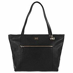 Portobello W11 - Black 'Dee' Saffiano leather hand bag