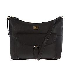Portobello W11 - Black 'Etty' leather cross-body bag