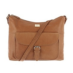 Portobello W11 - Tan 'Etty' leather across body bag
