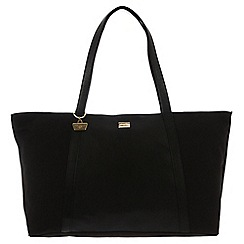 Portobello W11 - Black 'Lexi' canvas and leather hand bag