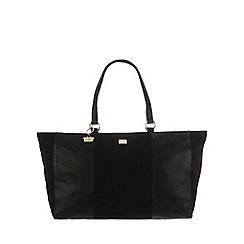 Portobello W11 - Black 'Morena' canvas and leather hand bag