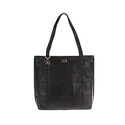 Portobello W11 - Black 'Heidi' patchwork style leather hand bag