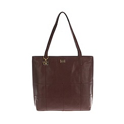 Portobello W11 - Marrone brown 'Heidi' patchwork style leather bag