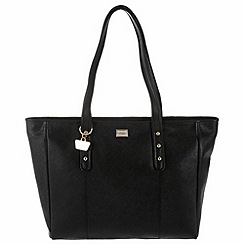 Portobello W11 - Black 'Caroline' Saffiano leather hand bag