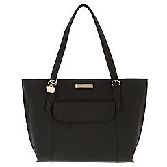 Portobello W11 - Black 'Penelope' Saffiano real leather hand bag