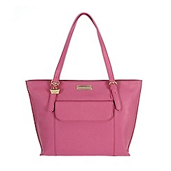 Portobello W11 - Fuchsia 'Penelope' Saffiano real leather hand bag