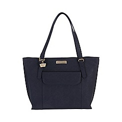 Portobello W11 - Navy 'Penelope' Saffiano real leather hand bag