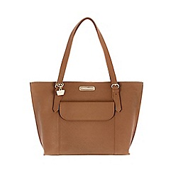 Portobello W11 - Tan 'Penelope' Saffiano leather hand bag