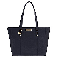 Portobello W11 - Navy 'Tyra' Saffiano real leather hand bag