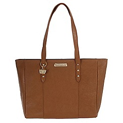 Portobello W11 - Tan 'Tyra' Saffiano leather hand bag
