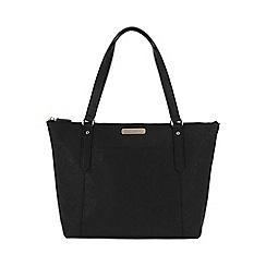 Portobello W11 - Black 'Naomi' Saffiano real leather hand bag