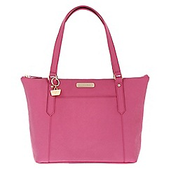 Portobello W11 - Fuchsia 'Naomi' Saffiano real leather hand bag