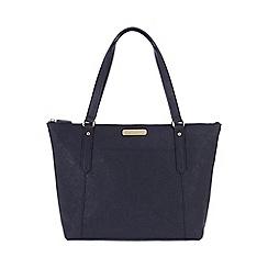 Portobello W11 - Navy 'Naomi' Saffiano real leather hand bag