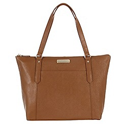 Portobello W11 - Tan 'Naomi' Saffiano real leather hand bag