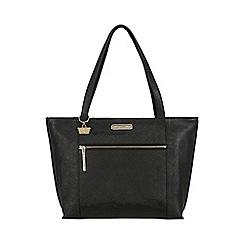 Portobello W11 - Black 'Brie' Saffiano real leather hand bag
