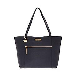Portobello W11 - Navy 'Brie' Saffiano real leather hand bag