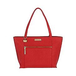 Portobello W11 - Poppy red 'Brie' Saffiano real leather hand bag