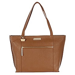 Portobello W11 - Tan 'Brie' Saffiano leather hand bag