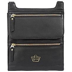Portobello W11 - Black 'Pembridge' soft leather small bag