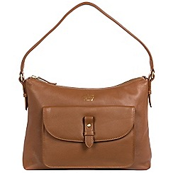 Portobello W11 - Tan 'Tavistock' soft leather shoulder bag