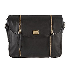 Portobello W11 - Black 'Allie' soft leather small across-body bag