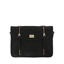 Portobello W11 - Black 'Allie' small leather cross-body bag