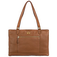 Portobello W11 - Tan 'Westbourne' soft leather handbag