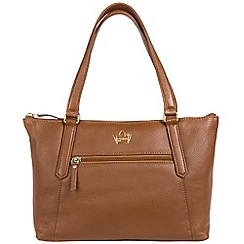 Portobello W11 - Tan 'Durham' soft leather handbag