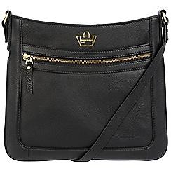 Portobello W11 - Black 'Blenheim' soft leather cross-body bag