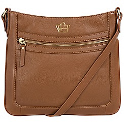 Portobello W11 - Tan 'Blenheim' soft leather cross-body bag