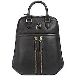 Portobello W11 - Black 'Artesian' soft leather backpack