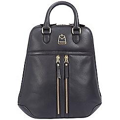 Portobello W11 - Navy blue 'Artesian' soft leather backpack