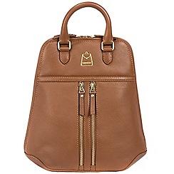 Portobello W11 - Tan 'Artesian' soft leather backpack