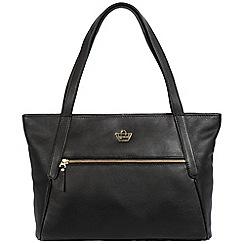 Portobello W11 - Black 'Powis' soft leather handbag