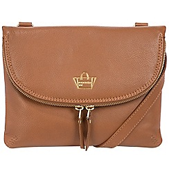 Portobello W11 - Tan 'Colville' soft leather cross-body bag