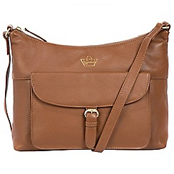 Portobello W11 - Tan 'Courtnell' soft leather cross-body bag