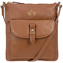 Portobello W11 - Tan 'Kensington' soft leather cross-body bag