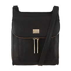 Portobello W11 - Black 'Lorna' leather small across-body bag