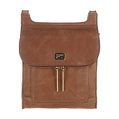 Portobello W11 - Bombay tan 'Lorna' soft leather small cross-body bag