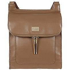 Portobello W11 - Mushroom 'Lorna' leather small cross-body bag